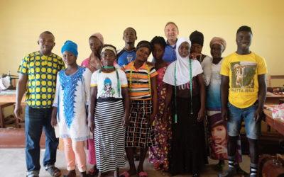 Unterrichtsbeginn des Kpawumo Educational Institute